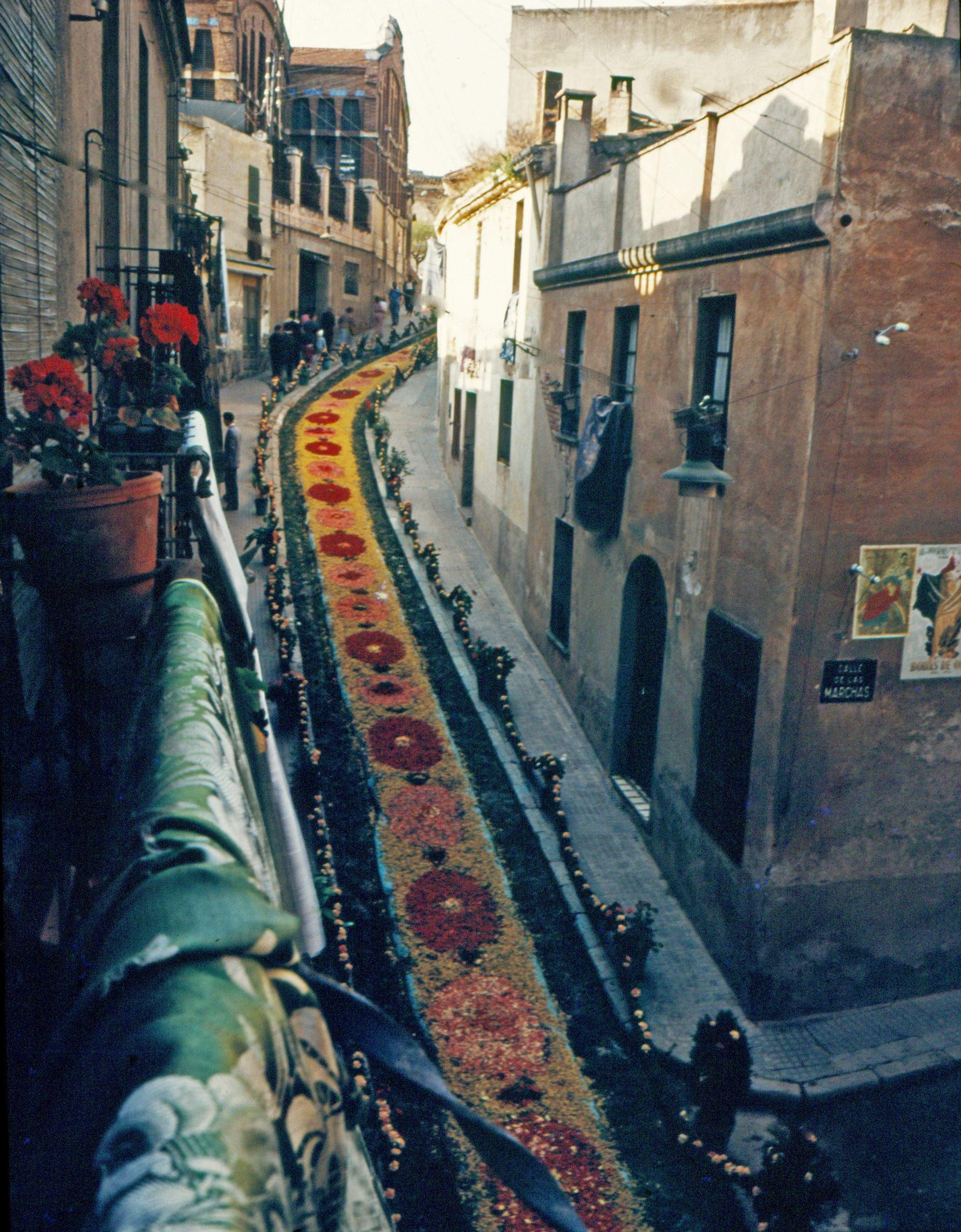 El carrer d'Endavallada en el Corpus del 1954. FOTO: Octavi Galceran