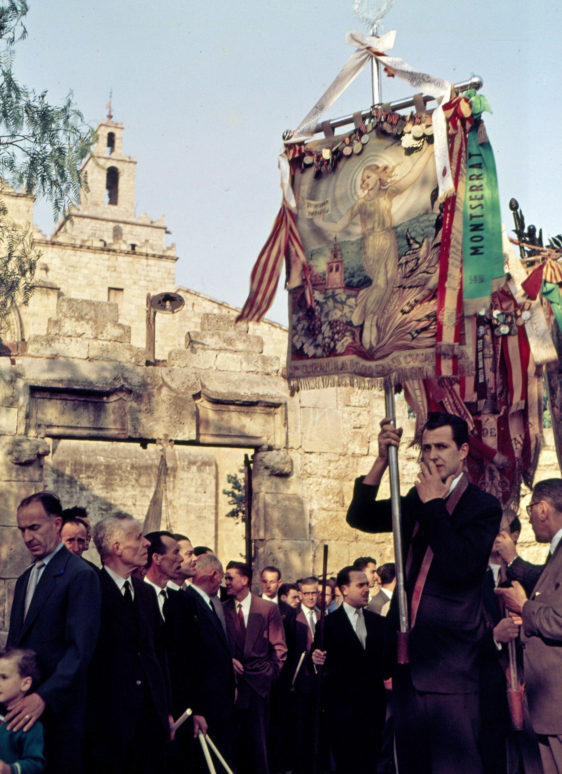 Cercavila de Corpus de l'any 1955. FOTO: Octavi Galceran