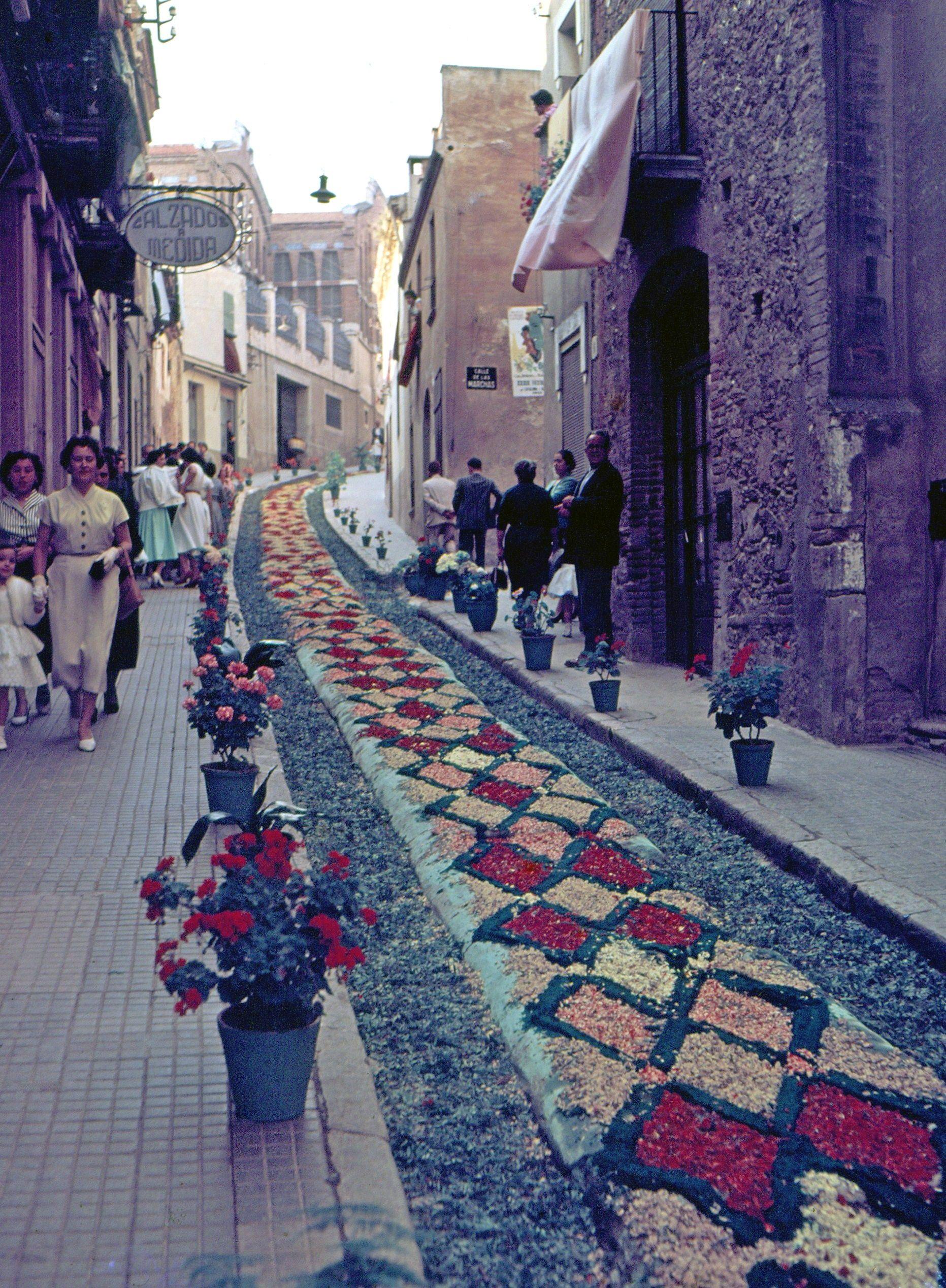 Corpus del 1955 al carrer d'Endavallada. FOTO: Octavi Galceran