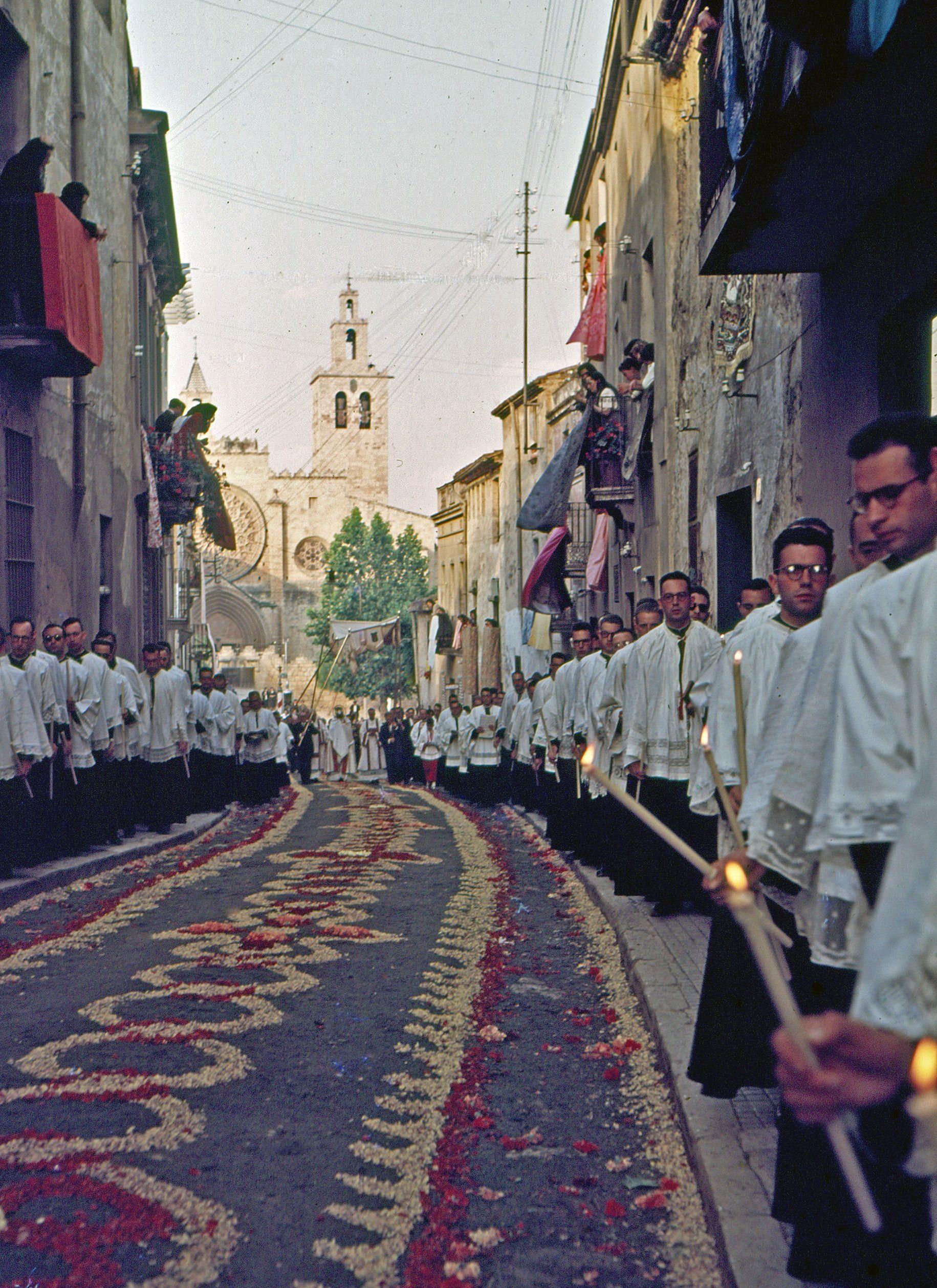 Processó de Corpus de l'any 1955. FOTO: Octavi Galceran