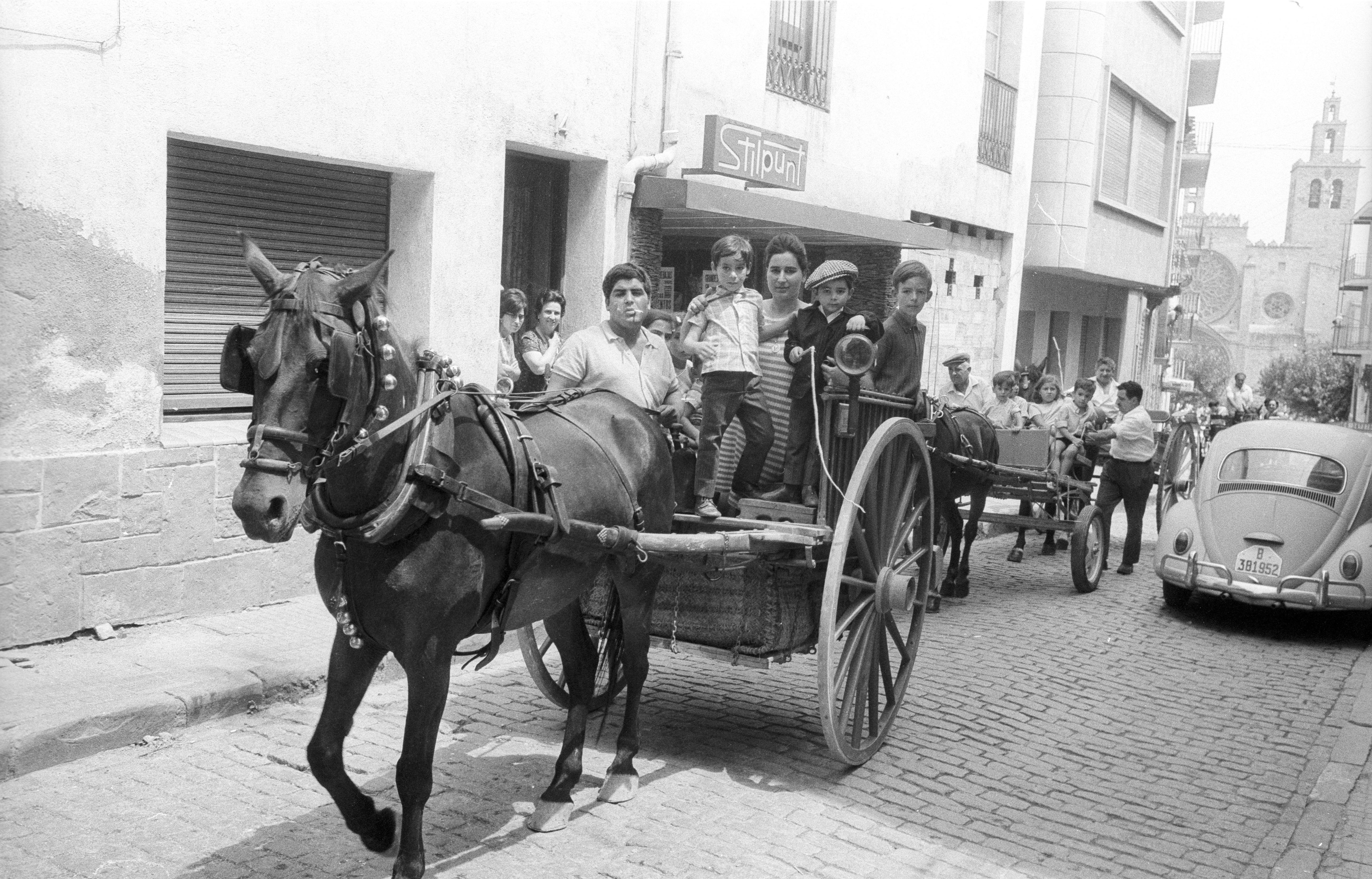 Cavalcada de Festa Major l'any 1969. FOTO: Fons Cabanas / AMSCV