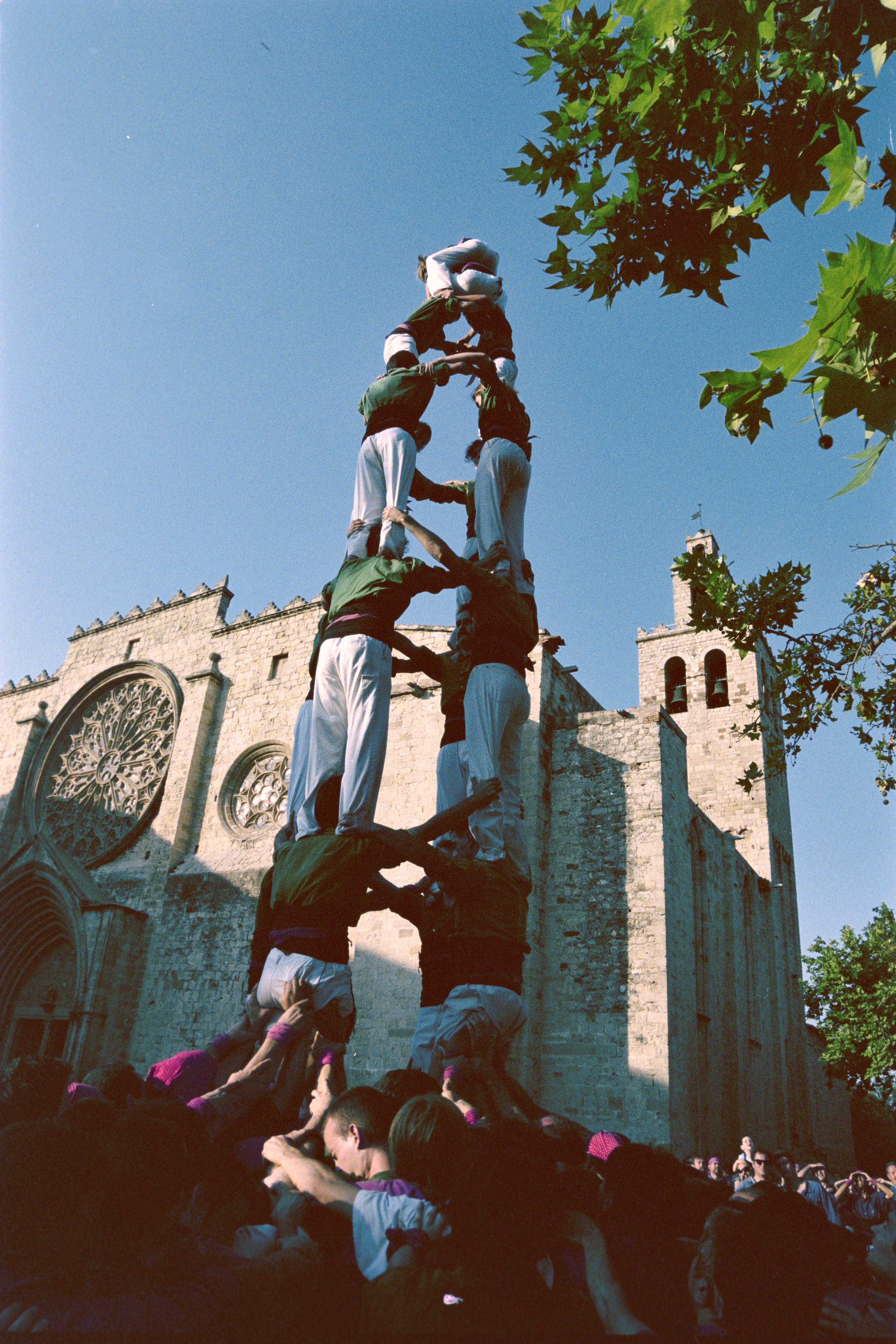 Diada Castellera en la Festa Major del 2001. FOTO: Arxiu