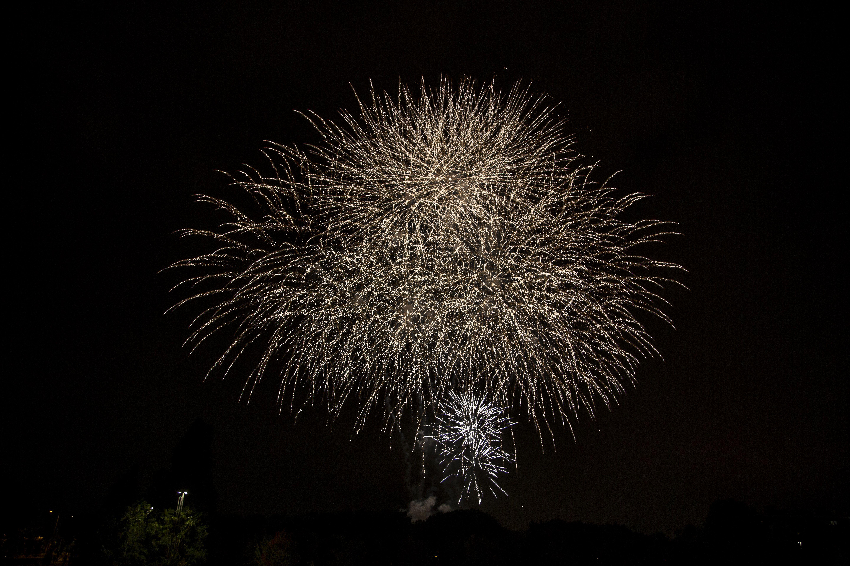 Castells de focs de la Festa Major del 2021. FOTO: Àngel Bravo