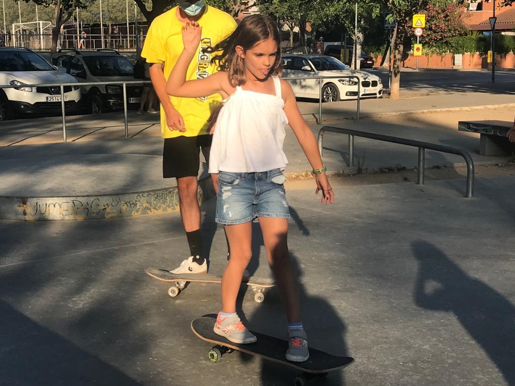 Taller de patinet i skate per la Festa Major de Mira-sol. FOTO: Nielo Ballart