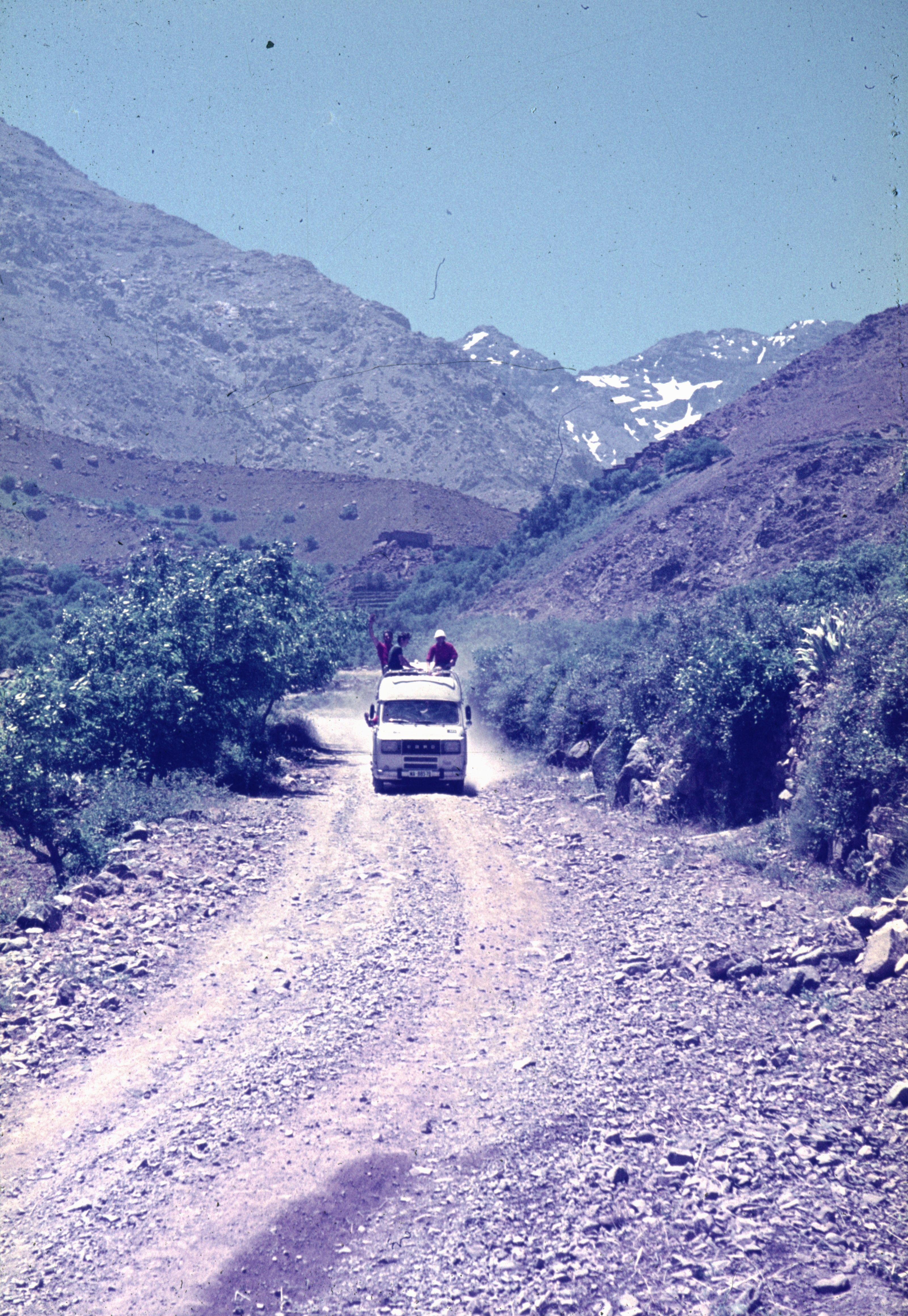 ruta a Imlil final de trajecte amb vehicle