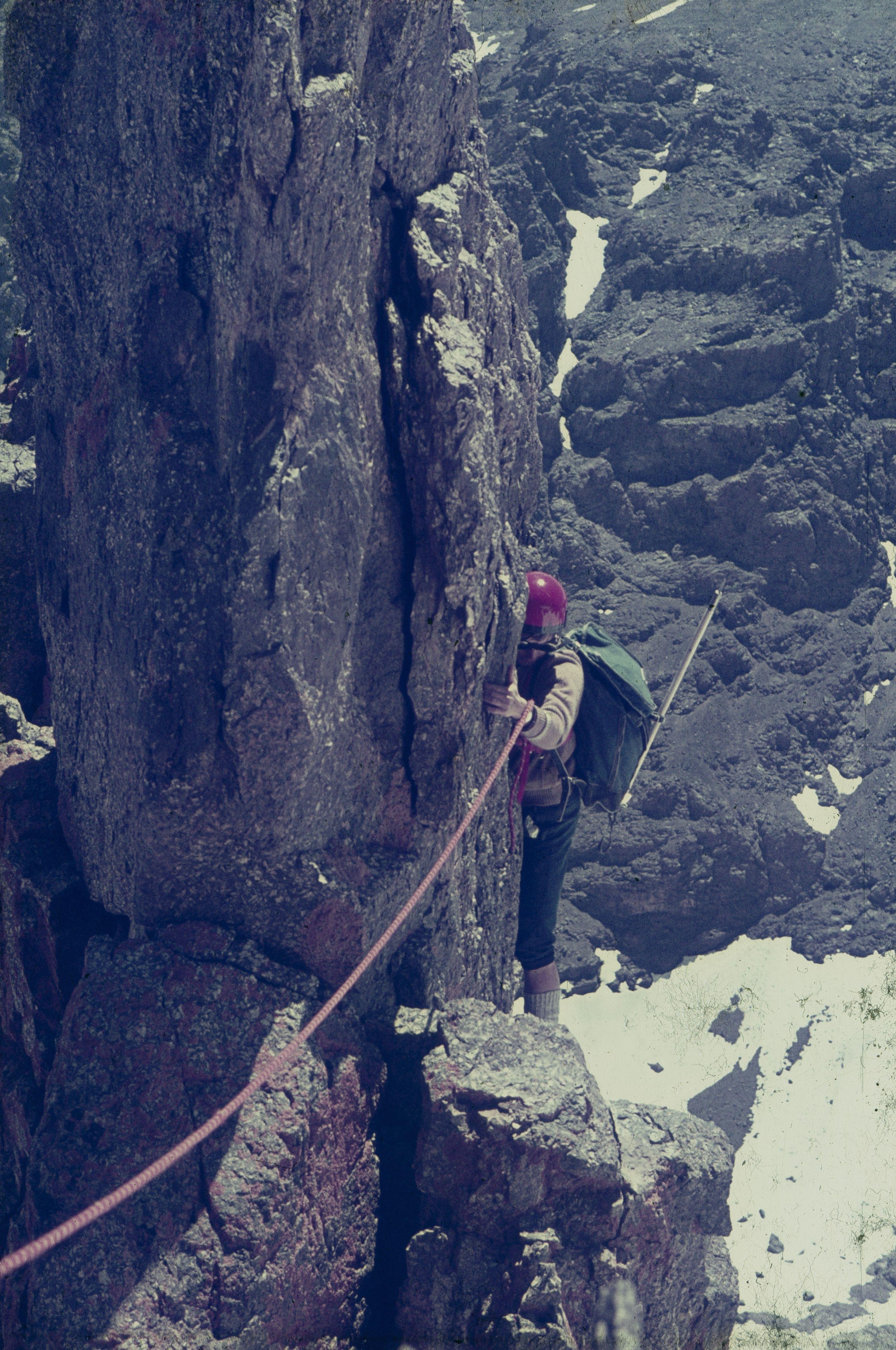 aresta est del pic tadat de 3,980 m