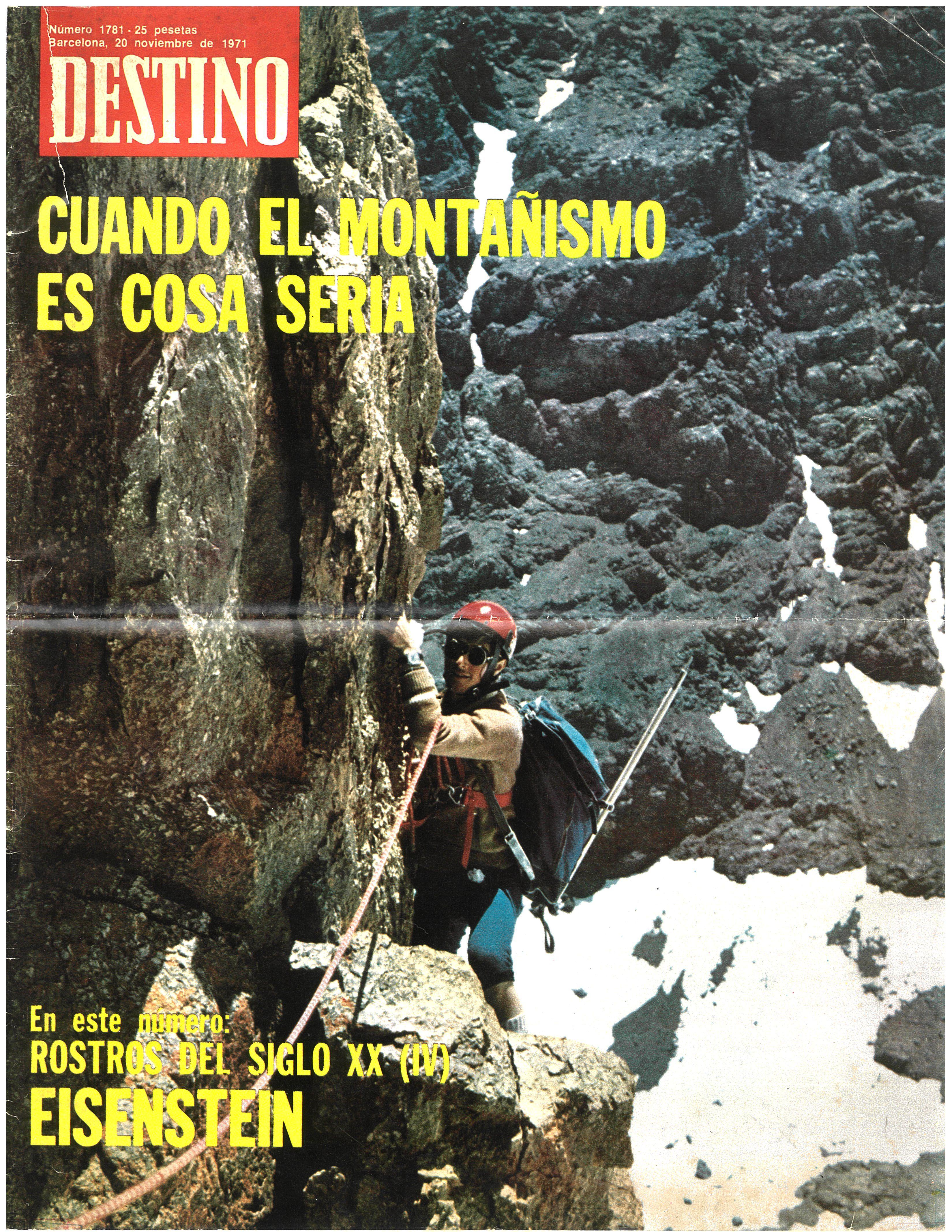 """Portada de la revista """"Destino"""" amb el reportatge de l'expedició en portada."""