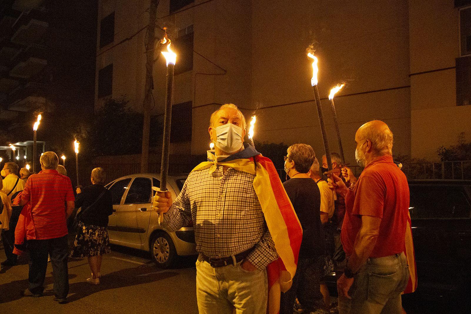 Recorregut de la Marxa de Torxes organitzada per Òmnium Cultural. Foto: Anna Bassa