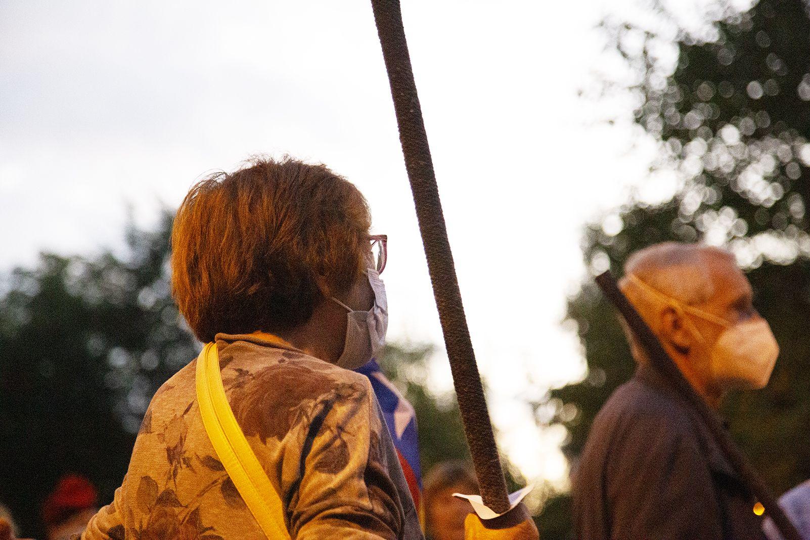 Inici de la Marxa de Torxes organitzada per Òmnium Cultural. Foto: Anna Bassa