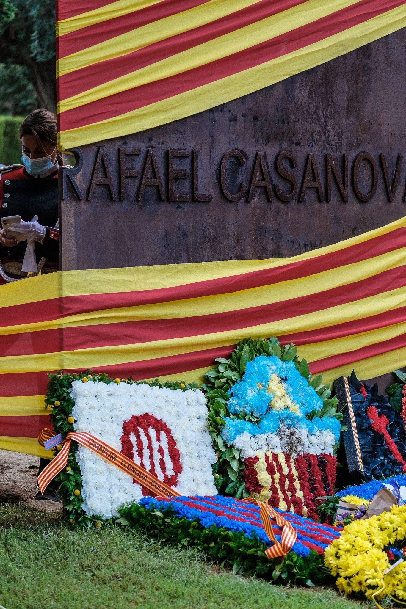 L'ofrena floral de les de la Diada Nacional de Catalunya. FOTO: Ale Gómez