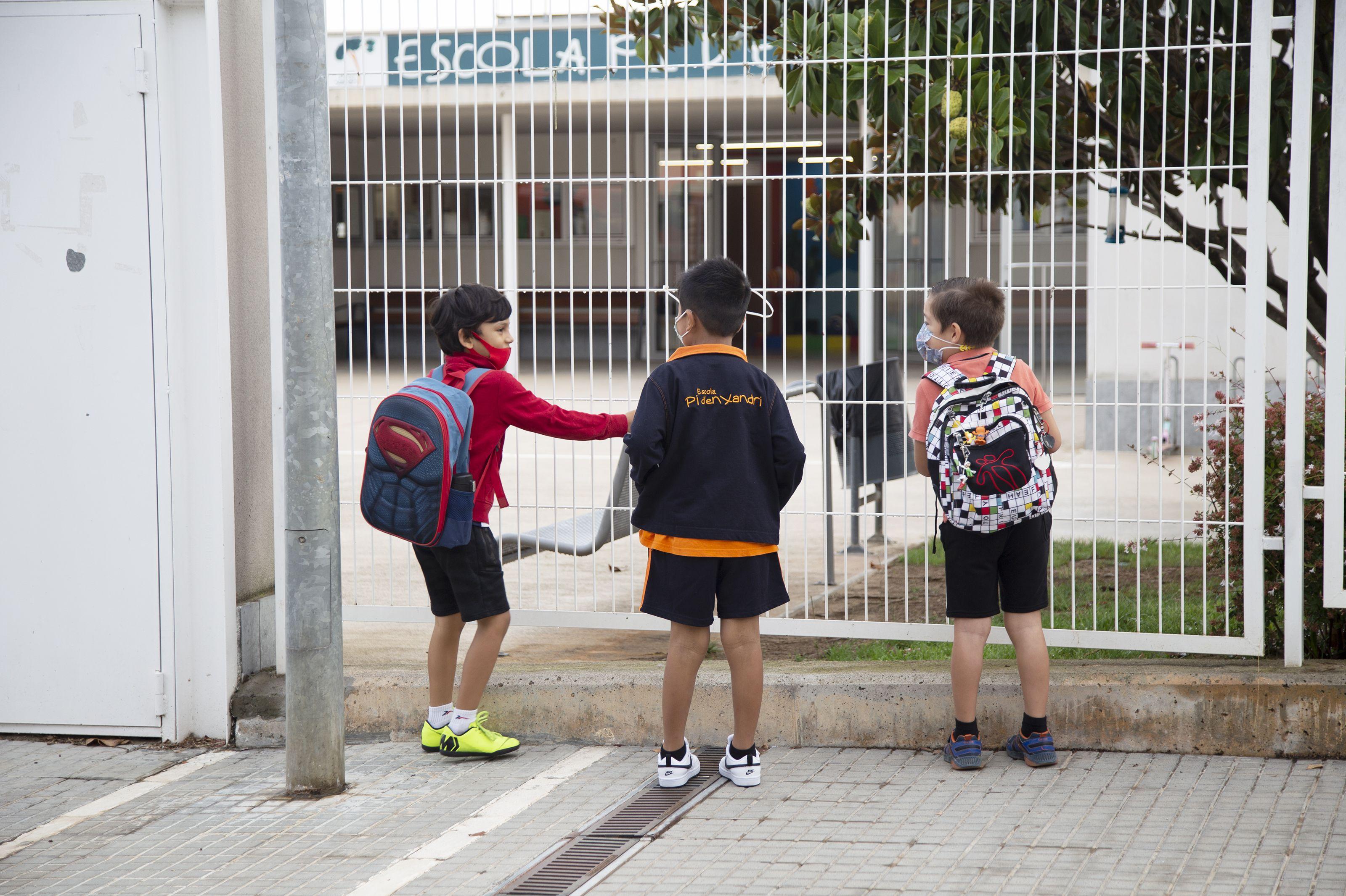 Primer dia d'escola al CEIP Pi d'en Xandri. Foto: Anna Bassa