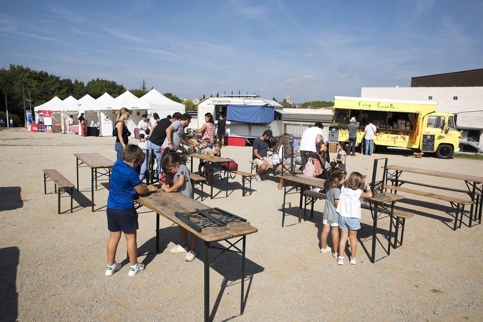 Food trucks del festival Petits Camaleons. Foto: Bernat Millet.
