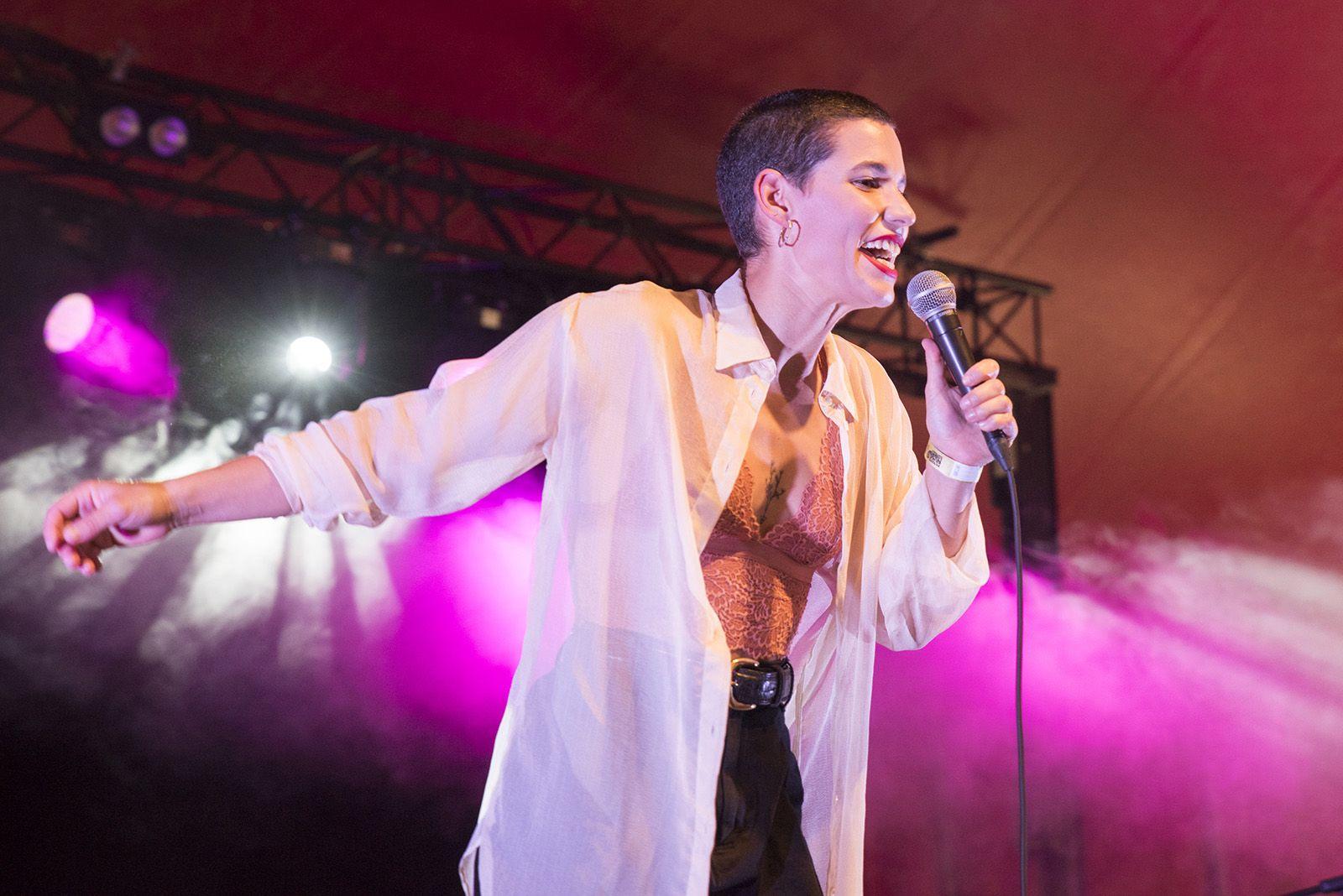 Clara Gispert al festival Petits Camaleons. FOTO: Bernat Millet.